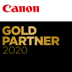 Logo Canon-Gold-Partner, Partner in Digitalisierung & Cloud Lösungen