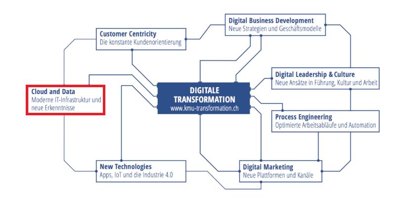 Cloud & Daten, Handlungsfelder der Digitalisierung, Digitaler Reifegrad, IT Dienstleistungen