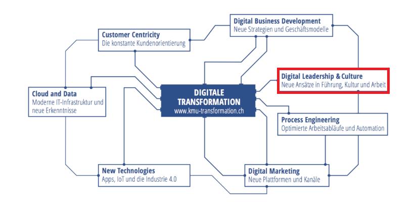 Führung & Kultur, Handlungsfelder der Digitalisierung, Digitaler Reifegrad, IT Dienstleistungen