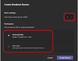 Microsoft Teams. Breakout-Räume