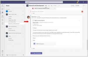 Anzeigen der E-Mail in MS Teams